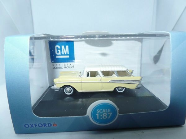 Oxford USA 87CN57004 CN57004 1/87 HO Chevrolet Nomad Colonial Cream India Ivory